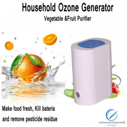 Mini portátil Fliter generador de ozono de aire purificador de agua en el hogar O3 Máquina Ozonizer
