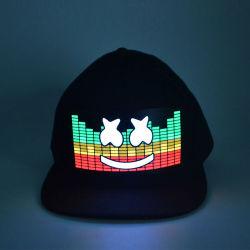 Linliの無線習慣は党のためのインバーターが付いているELの帽子/Soundによって作動するLED Cap/ELの点滅の帽子をつける