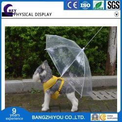 애완견 투명 우산, 견인 도그 체인 워킹 도그 우산 개 우비 코트 판초