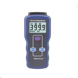 Medidor de energía solar Medidor de luz para la radiación solar de cristal de probador de la intensidad de luz