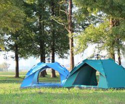 El plegado automático carpa de Camping AL AIRE LIBRE PLAYA 3-4 Personas rápida sencilla abrir dos persona lluvia prueba Camping