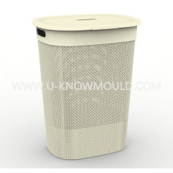 [مولتي-بوربوس] [رتّن] صندوق بلاستيكيّة [لوندري] سلف [موولد] مع غطاء غسل سلف