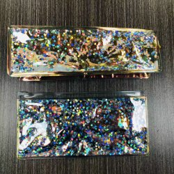 Nette Laser-Tasche Teenage Mädchen Schule Kosmetiktaschen Transparente Schönheit Bleistifttasche für Mädchen