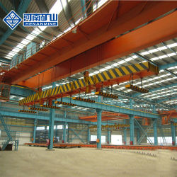 5~20tonnes Span 16,5 m double poutre de pont de l'électroaimant pont roulant avec le support de faisceau