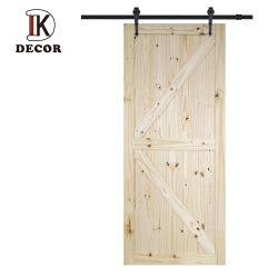 商業木のドアのロッジポール松のドアの未完成の2つのパネルのこつのスライドの柵のドア