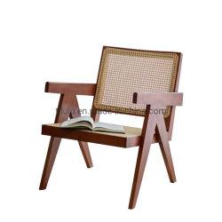2020 nuovo Nordic moderno semplice legno massello sedia Rattan balcone Sedia per il tempo libero