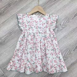 As crianças de estoque roupa de verão para crianças Vestidos de algodão padrões impressos Girl vestir roupas para crianças Bonitinha Salão Princess Crianças Vestuário