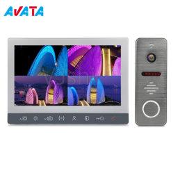 Vídeo de 2 cables de vídeo de la Villa de timbre del sistema de intercomunicación de la puerta de manos libres Teléfono de Video