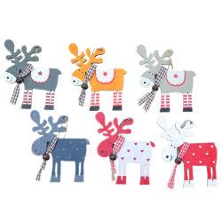 3 PEZZI decorazione di Natale ornamenti di Natale in legno