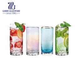 아마존 핫 세일 하이 엔드 볼 해머 패턴 원형 유리 음료 선물 가게용 물 마시기 컵 유리 Timbler