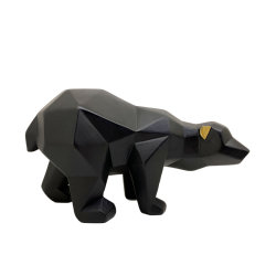 Hars Craft Black Bear Home Decoratie Standbeeld Art Design modern Geometrisch dierlijk ornament