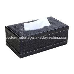 Cuir synthétique Case tissulaire Mouchoirs de papier tissu titulaire Chambre d'hôtel Box