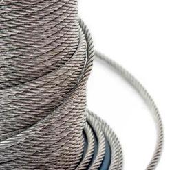 2021 高価格高品質鋼線ロープ 亜鉛メッキ / 亜鉛メッキなしワイヤロープスチールケーブル