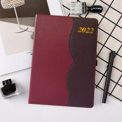 أفكار جديدة للمنتج 2021 مخططي مستلزمات Office 365 Days 2022 جدول يوميات جدول أعمال جلد دفتر شعار مخصص دفتر يومية PU الغطاء الحاردي Zhe