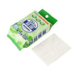 Las toallitas húmedas desechables portátil suave limpieza libre de Alcohol de tejido húmedo sin sabor