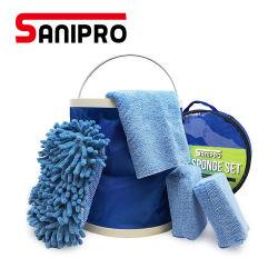 Ferramentas de Limpeza do automóvel Sanipro pano de microfibras suave toalhas Lavar Mitt esponja lâmina de água de Janela Rodo Escova Limpa automaticamente as ferramentas