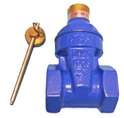 기계적 잠금 장치가 있는 복원력 있는 나사산 게이트 밸브