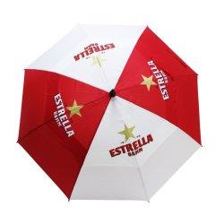大きく最も強い防風を広告する高品質の二重おおいは昇進またはギフトのためのゴルフ傘をカスタマイズするか、または傘を広告するか、または決め付ける