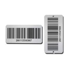 カスタム刻印自己接着性金属銘板アルミニウム番号バーコードラベル