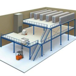 Sistema de racks de depósito personalizado multifuncional plataforma durável Rack piso Mezzanine