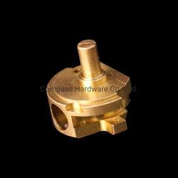Tornos CNC Precision Motor de latão de alumínio usinado rodando o metal auto peças de máquinas Central Automática máquina de usinagem de forjamento virou parte