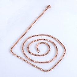 衣服の香水の拡散器のネックレスの吊り下げ式の装飾のアクセサリのための正方形の真珠のローズの金の鎖