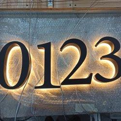 Professional Custom iluminação por LED Elevadores eléctricos de números de casa em busca de sinais