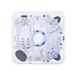 Lovia Hot Sale 6 personnes en acrylique de massage spa extérieur Hydro un bain à remous avec LED