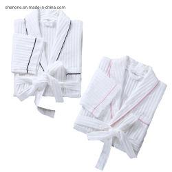 Grossista Shenone Logotipo personalizado 100% algodão / Waffle manto branco unissexo Hotel Homens Mulheres Roupão