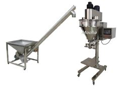 半自動高いAccurancyのオーガーの注入口機械または純重量蛋白質のスパイスの栄養物の粉の満ちるパッキング機械