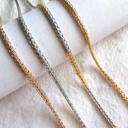 Accessoires de Mode Necklace handmade craft Câble de queue de renard de la chaîne de bijoux en plaqué or 18K