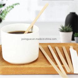 Commerce de gros de promotion de thé en bois de bambou de qualité alimentaire de bâtonnets à café de mixage des agitateurs