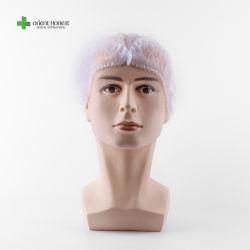 Nonwoven PP/quirúrgica desechable medico y dental o de enfermería/Matorral Bouffant/Ronda/plisado/Strip Clip tapa una vez utilizar Mob sombreros redondos de plástico para el trabajador médico
