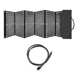 Zj panneaux solaires 60W Chargeur Panneau solaire pliable portable Camping panneau solaire Chargeur de batterie avec 3 ports (DC + USB+C) de type pour tablet, téléphone, ordinateur portable