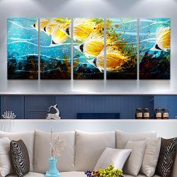 استوائيّة سمكة [3د] معدن صناعة يدويّة [أيل بينتينغ] جدار فنية [إينتريور دكرأيشن]