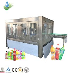 SGSによって証明される炭酸塩化された光っている水瓶詰工場の飲料ジュースの充填機の生産ライン清涼飲料