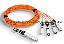 Optische Fiber PIN Rx Fibre Optic Transceiver Qsfp28 tot 4X 25g SFP28 Breakout Active-kabels