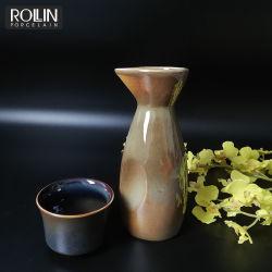 Estilo retro de porcelana de alta temperatura Saki Cup Set