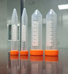 실험실용 일회용 플라스틱 15ml 50ml PP 원심 튜브 원뿔형 멸균 RNase 및 DNase Free 플러그-씰 스크류 캡 및 플랫 탑 캡 테스트
