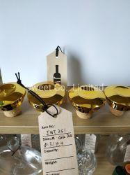 La fabricación de tapón de botella de cristal corcho madera tapa de plástico de oro