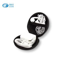 Hete Verkoop Gemakkelijk om het Geval van de Oortelefoon van de Organisator van de Kabel van EVA te dragen USB