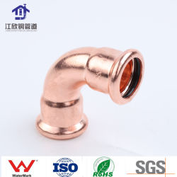 Raccordo per tubi acqua/gas in rame 90 gradi uguale raccordo per tubazioni/refrigerazione gomito a pressione
