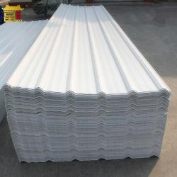 Non l'amiante les matériaux de construction en plastique ondulé de toit de feuilles de PVC
