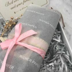 Logo d'impression personnalisée Multipurpose boîte cadeau de fleur de l'emballage en papier tissu Eco papier d'emballage