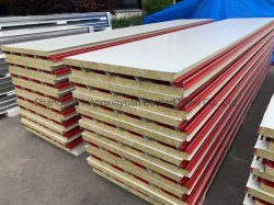 50 mm/75 mm/100 mm/150 mm Australian Style Z Lock Fireproof/Acoustic Absorption Rockwool Sandwich Panel Voor wand en dak