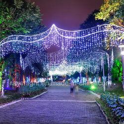 15m grande iluminação LED decorativas de Natal Cross Street Luzes de Natal