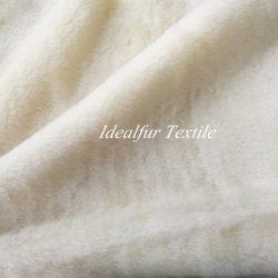 Weißes Kaninchen-Fälschungs-Pelz-Vlies-Gewebe