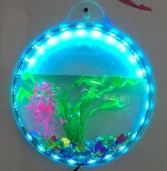 Fish Tank de la pared del acuario de pared de acrílico de 1 galón Fish Bowl 11.5 pulg.