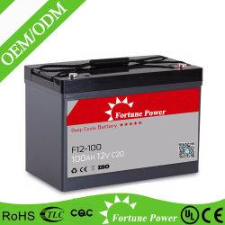 Valve Regulated Gel Rechargeable Batterie solaire 12V100ah