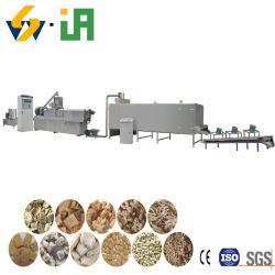 Máquina de fazer de proteínas de soja texturizada Nuggets expandida linha de processamento de equipamento de volume
